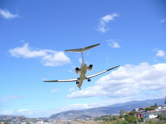 Airplane on Short Final